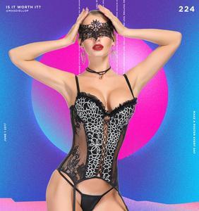 Image 2 - Corset women   steampunk корсет lace black sexy bustier corset waist trainer sexy lingerie bodysuit slimming underwear corselet