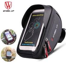 Велосипедный держатель для телефона на колесиках, водонепроницаемый Кронштейн для мобильного телефона 6,5 дюйма, велосипедный руль, велосип...
