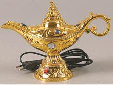 Arab Aroma kuchenka luksusowy złoty elektryczny kadzidło palnika Difusor De Aroma Zapach Do Domu dom Quemador Incienso MM60XXL