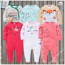 3 pcs/pack Newborn Baby Pajamas Infantile Full Sleeve Infant Boys Girls Romper Clothing One-Pieces Warm Soft Animal Cartoon