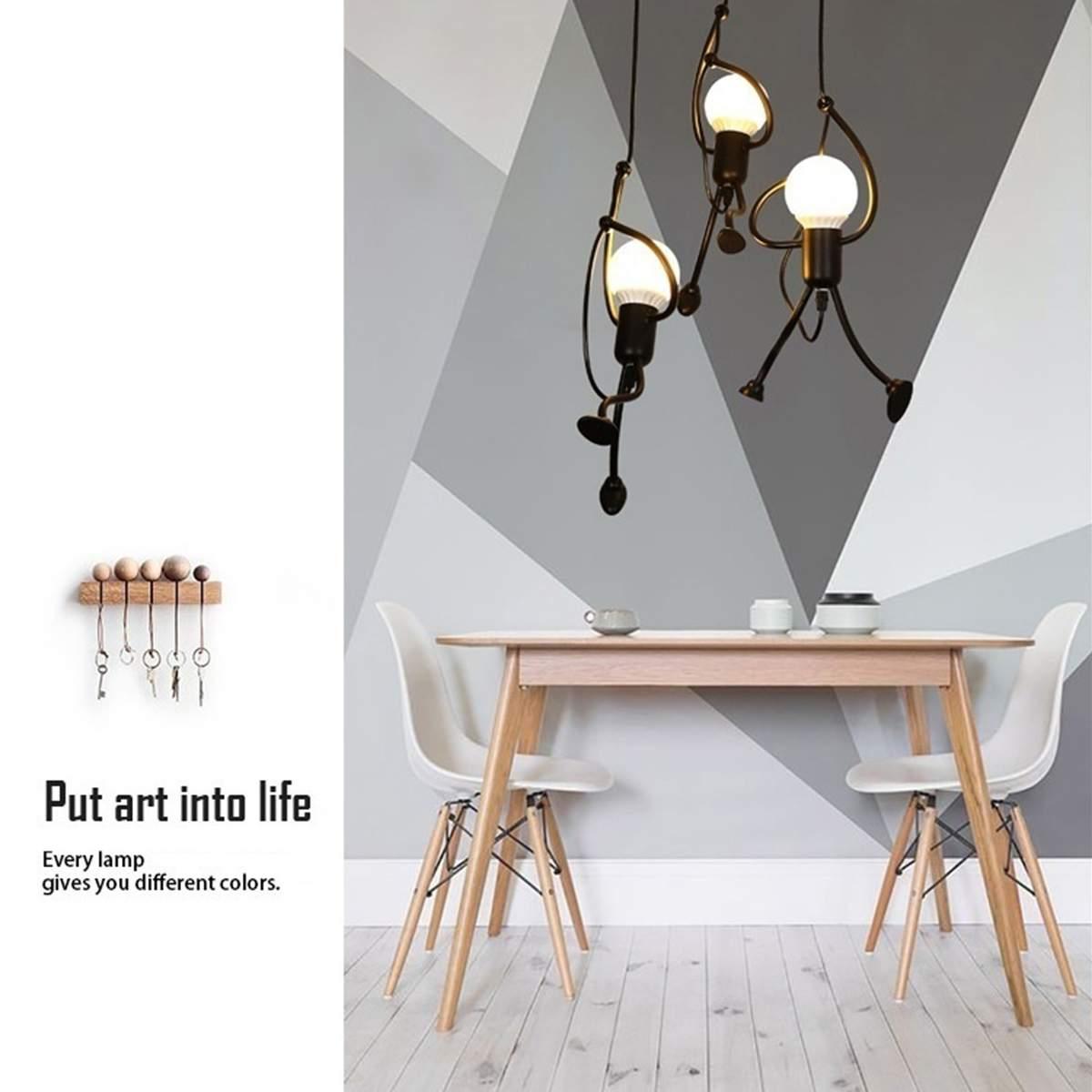 LED Chandelier Fashion Single/Three Head Lamp Simple Doll Swing Chandelier Modern Living Room Children Bedroom Light