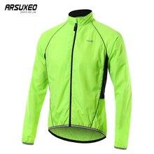Wind-Jacket Bicycle ARSUXEO Reflective Clothing Mountain-Bike Windproof Waterproof MTB