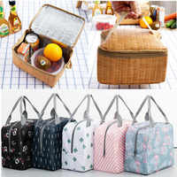 1Pcs PortableLunch Bag Insulated Container Reusable Outdoor Travel Picnic Bag Thermal School Lunch Box Collapsible Tote Bag