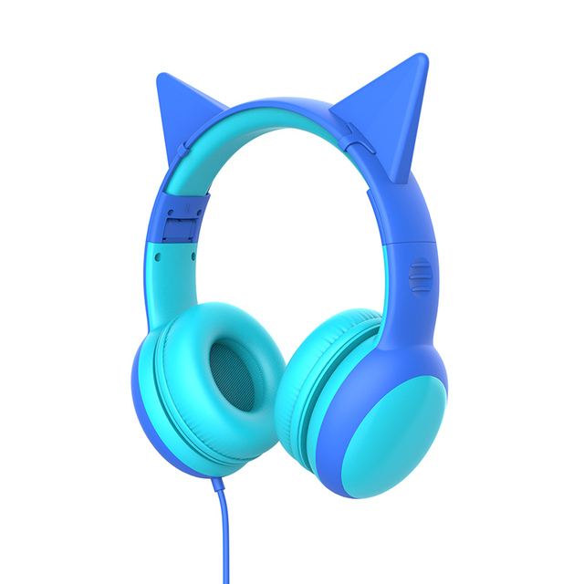 Gorsun E61 Child Headphone bluetooth5.0 Bass headset stereo cat ear earbuds Foldable 3,5mm AUX for phone MP4 for girl boy gift