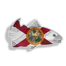 Florida fl redfish red fish автомобильный стикер с рыбалкой