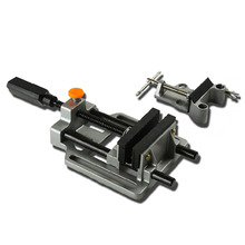 Bench Vise DIY Mini Table Vise Double Track Worktable Manual Drilling Machine Wood Router Tools For Miiling Engraver