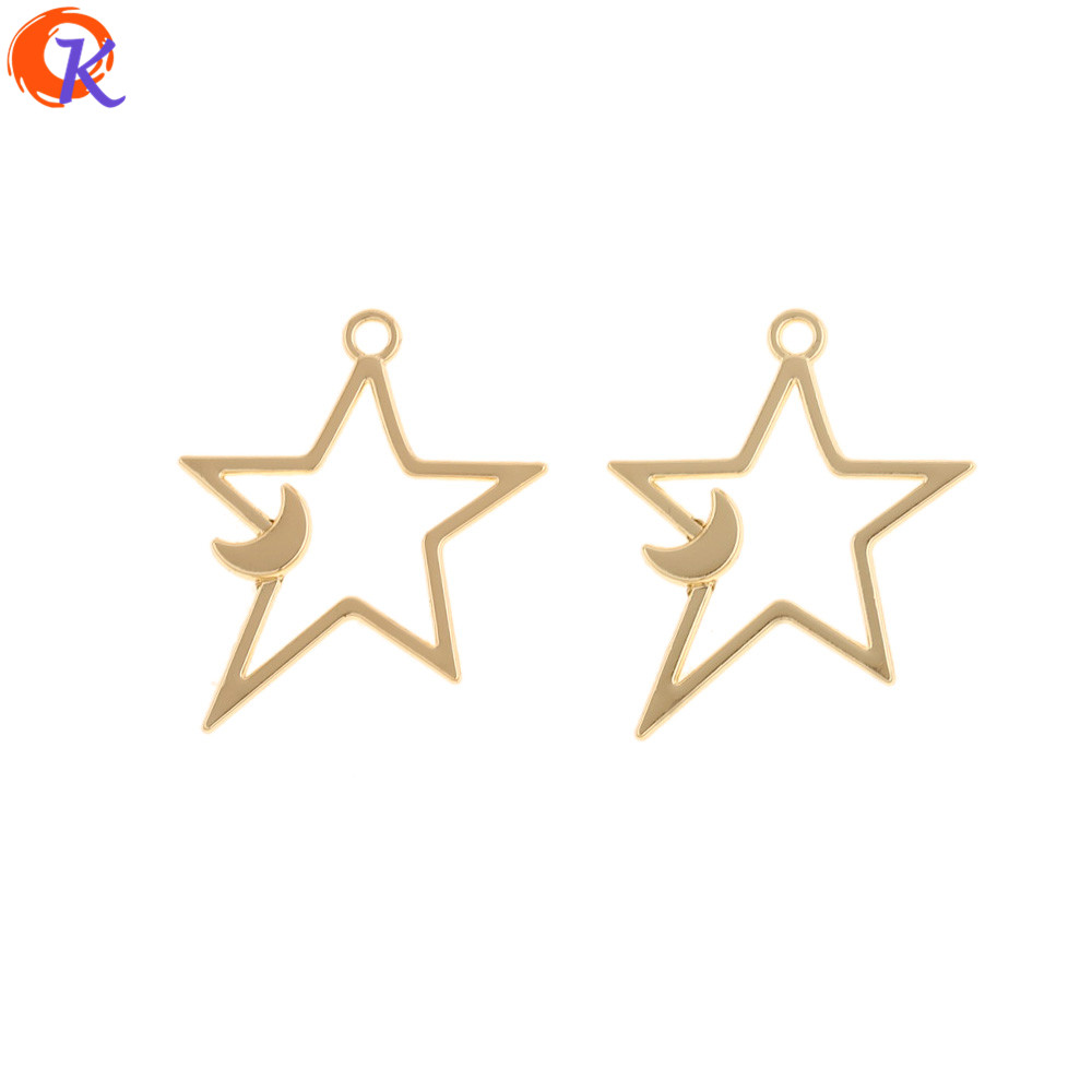 Cordial Design 100Pcs 23*28MM Jewelry Accessories/Earrings Connectors/Charms/Star Shape/DIY Making/Hand Made/Earring Findings