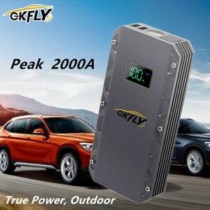 GKFLY 24000 mAh Car Jump Starter High Power Jump Starter Portable Charger Car Starting Device Power Bank for Car Battery Booster
