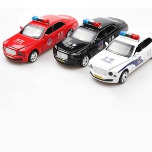 1:32 Масштаб игрушечный автомобиль Bentley Mulsanne Полицейский Металлический сплав автомобиль Diecasts игрушечный автомобиль модель автомобиля Миниа...