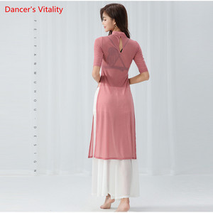 Image 3 - Belly Dance Cheongsam Training Clothes New Cheongsam Costumes Suit Modern Dance Clothes