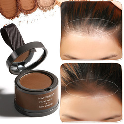 4 cores sombra de cabelo em pó à prova dwaterproof água preto borda raiz cobrir natural linha de cabelo instantâneo sombra pó maquiagem cabelo corretivo