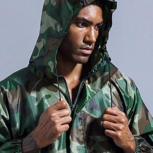 Image 5 - Combinaison imperméable à capuche de pluie, vêtements de travail, anti poussière, Spray de peinture, manteau de pluie unisexe, combinaison de sécurité, S XXXL