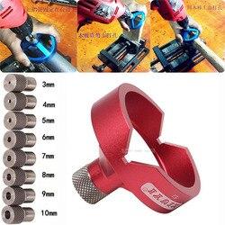 90 grado guía de broca/3/4/5/6/7/8/9/10mm broca agujero golpeador de plantilla con bisagras abridor agujero herramientas para trabajar la madera