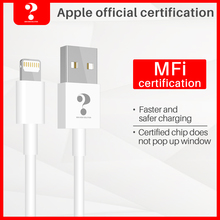 MFi USB Cable for iPhone 11 X Xs Max 2.4A Fast Charging USB Charger Data Cable for iPhone Cable 8 7 6Plus USB Charge Cord стоимость