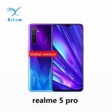 Realme 5 pro глобальная версия 6,3 »4 GB 128GB 4035mAh Snapdragon 712 AIE 48MP Quad Cameras VOOC Быстрая зарядка 3,0 мобильных телефонов