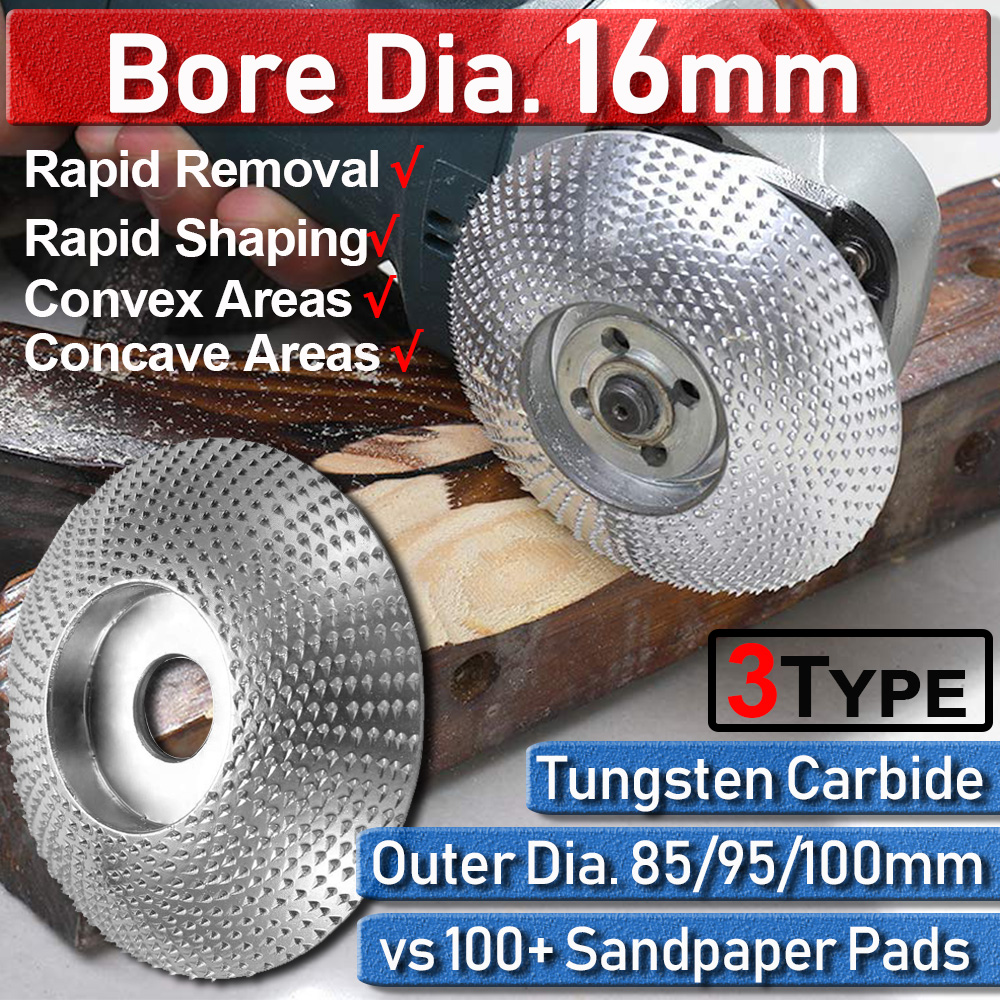 85-100mm Wood Carving Disc Tungsten Carbide Grinding Carving Disc Tool Wood Cutting Disc 3 Types Grinder Saw Disc Home DIY D30