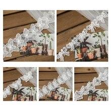 1 двор бант бабочка вышивка кружево бейка лента имитация жемчуг бисер аппликация поделки шитье рукоделие свадьба свадебное платье платье M7DD