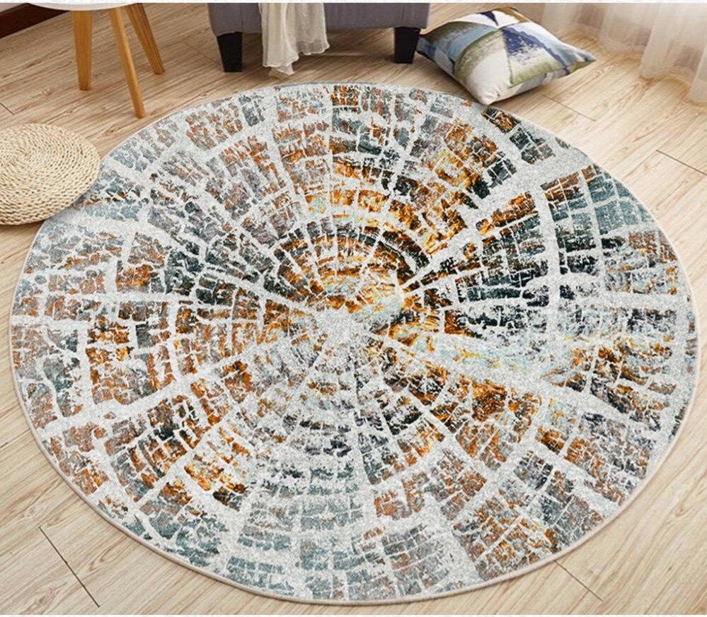 Papier peint auto-adhésif de pvc de peinture décorative de plancher de salon de texture ronde minimaliste fraîche rétro