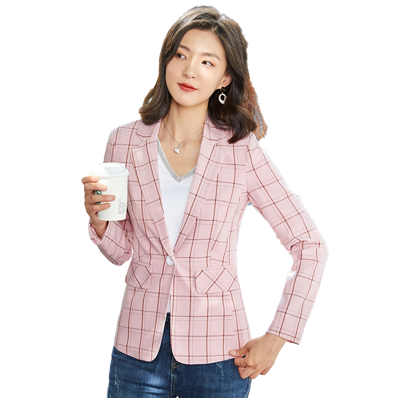 Fashion Casual Laides Pink Blazer Women Outerwear Jackets Female Elegant Formal Office Work Wear OL Styles Blazers and Jackets