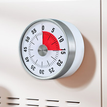 60 Minutes Kitchen Timer Mechanical Cooking Timer Magnet Round Shape Countdown Alarm Reminder Novelty Time Reminder Home Decor