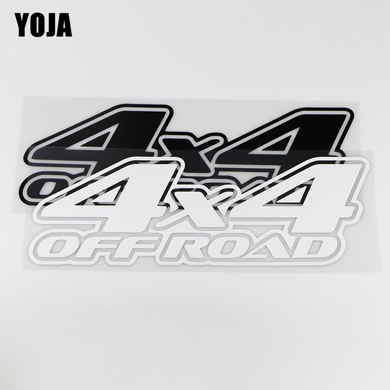 YOJA 24.8X8.6CM OFF ROAD 4X4 Personality Decoration Car Sticker Vinyl Decals ZT4-0019