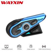 Headset Intercom Rider Motorcycle-Helmet Talk Moto R15 WAYXIN Multicolor FM 2 At 1pcs