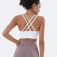SOISOU-Top de nailon para mujer, sujetador sexy, ropa interior transpirable, Sujetador deportivo de Yoga para Fitness, gimnasio, 10 colores