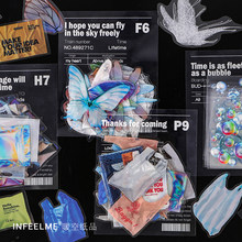 Infeel.me Retro vintage dulce fresco diario PET pegatina decoración de colección de recortes etiqueta 1 lote = 1 paquete al por menor