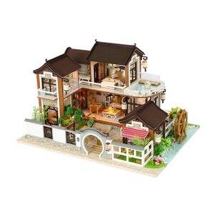 Casa de muñecas en miniatura de DIY, casa de muñecas, casa de muñecas, Domki Dla Lalek Puppenhaus, casa de muñecas de moda Lol