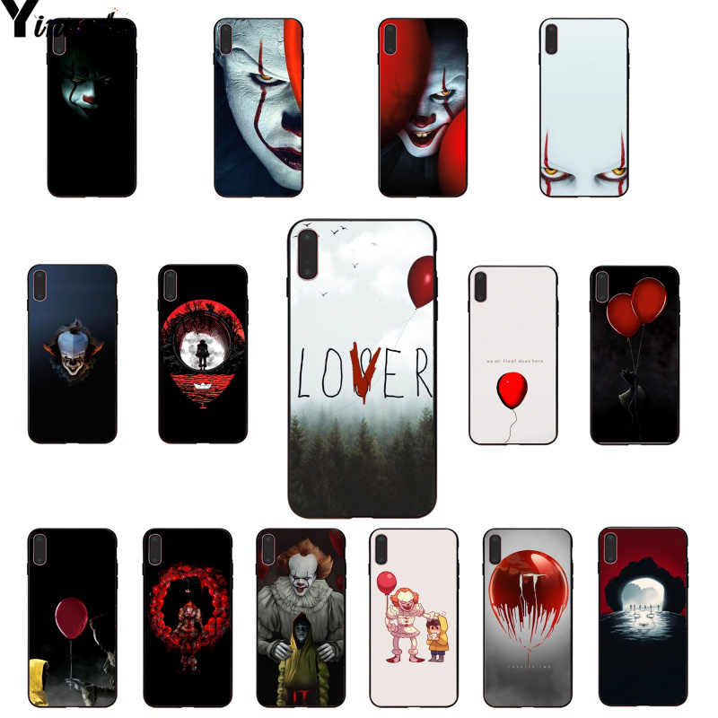 Yinuoda Stephen King s Het pennywise Zwart TPU Soft Rubber Telefoon Case Cover voor iPhone 8 7 6 6S plus X XS MAX 5 5S SE XR 11 11pro