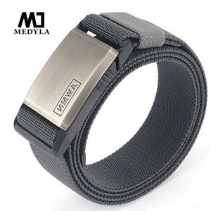 Ремень Medyla мужской, металлический, Нейлоновый, с магнитной пряжкой