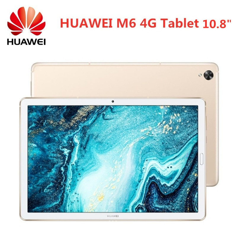 HUAWEI M6 4G Phablet Tablet PC 10.8 polegada Android Mediapad 9.0 Hisilicon Kirin 980 1.8GHz Núcleo octa 7500mAh 2560x1600 Impressão Digital