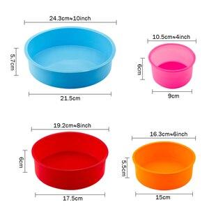 Image 5 - ランダムな色のケーキラウンド形状の金型キッチン耐熱皿diyデザートベーキングモールドムースケーキ金型ベーキングパンツール
