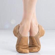 2021 novo couro genuíno sapatos de jazz macio dança tênis de ginástica sapatos unisex deslizamento em tênis de dança jazz para jazz