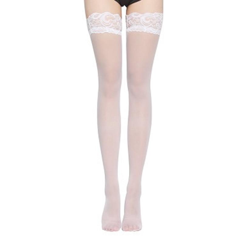Women Sheer Sexy Stockings Lace Top Thigh High Stockings Nightclub Medias De Mujer Stockings Female Erotic High elastic
