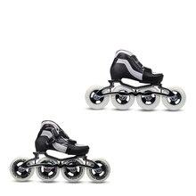 7005 aluminium alloy dual mode transformer inline speed skate frame 4x90mm YF YOUFU Inline skates 4W 90/Blue Children's Speed Roller skate shoes