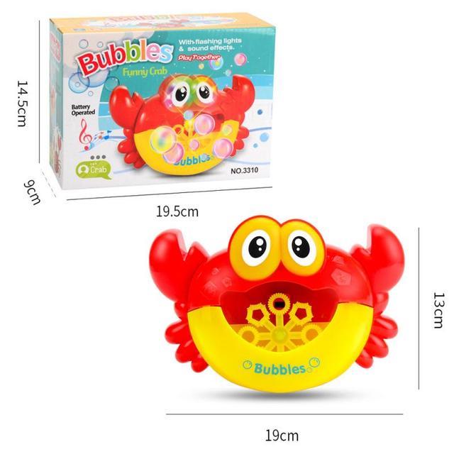 1Pcs Outdoor Bubble Machine Crabs Music Kids Bath Toy ABS Bathtub Soap Automatic Bubble Maker Baby Bathroom Toy For Children 6