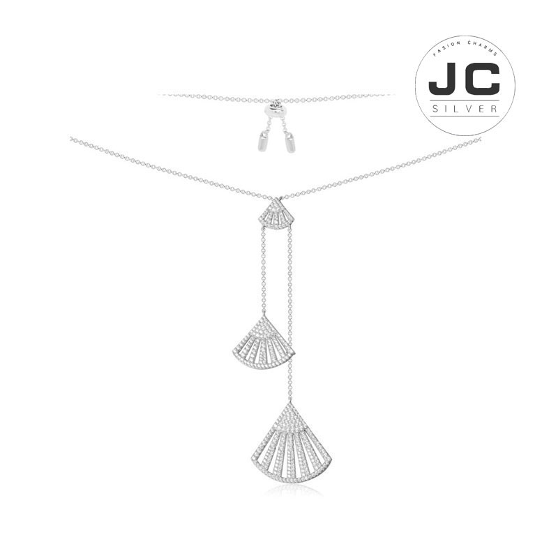 New Fashion Charms Silver 925 Original Engraving,Flamenco Silver Necklace For Women With Mono Logo Glamour Zircon Jewelry Gift