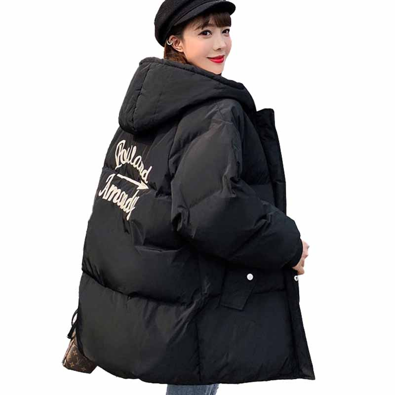 2019 New fashion plus size winter   parkas   students coat down cotton jacket women hooded thicken Loose warm outerwear female G540