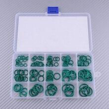 150pcs/Kit Green FKM Rubber Airtight O-Ring Gasket Seals Assortment 15 Sizes For Mechanical Automotive Ship Electronics