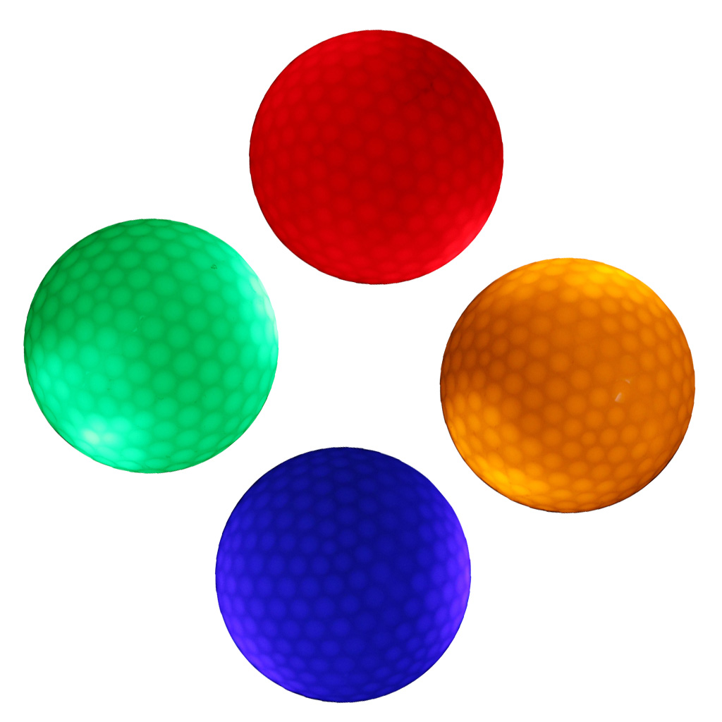 4Pcs LED Flashing Light Up Golf Balls For Night Golfing Sports