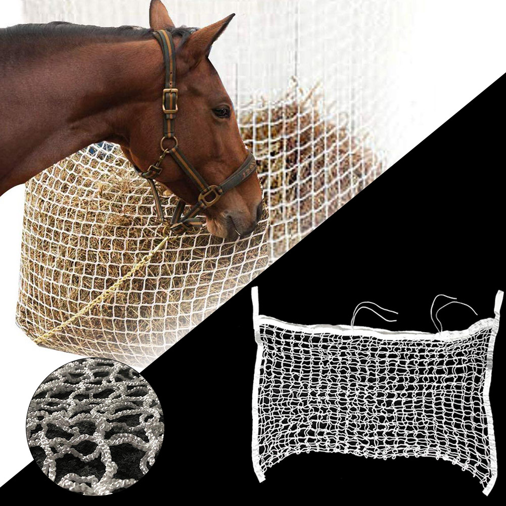 Hay Net Bag Slow Feed Bag For Horse Feeder Full Day Feeding Large Feeder Bag With Small Holes Sturdy And Durable Hay Net Bag