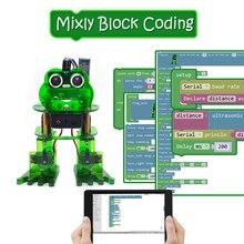 جديد! Keyestudio لتقوم بها بنفسك 4 dof روبوت عدة الضفدع روبوت لاردوينو نانو البرمجة الرسومية/دعم IOS & أندرويد APP التحكم