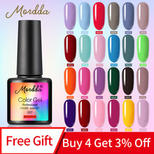 MORDDA 8 ML Gel Polish UV LED Nagellak Voor Manicure 60 Kleuren Gel Lak Semi Permanente Gel Verf Nail art DIY Design Tools(China)
