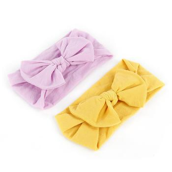 21 Colors Baby Headband Cute Big Bow Headwear For Girls Newborn Toddler Infant Knotted Hair Accessories Bebes