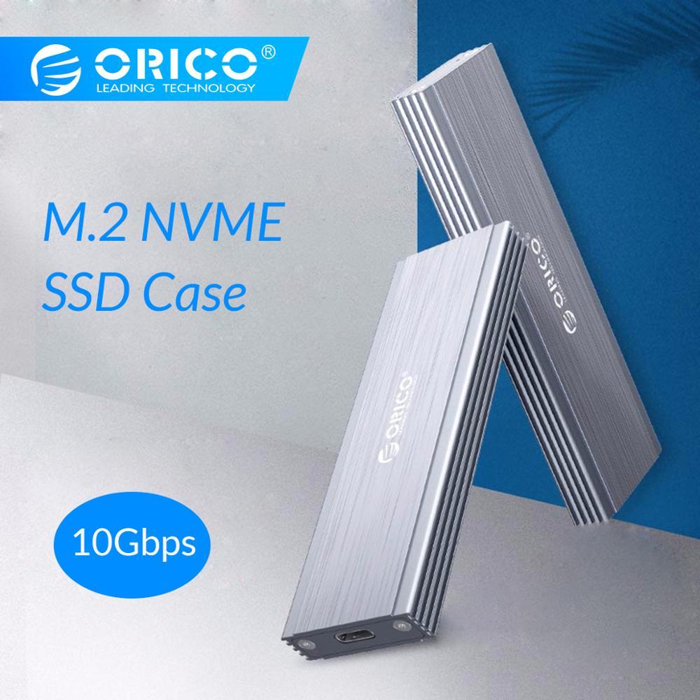 ORICO NVME M.2 SSD Recinto Caso USB3.1 GEN2 10 6gbps SSD Móvel Caixa de Disco Rígido Externo Recinto Caso para m2 Caso SSD