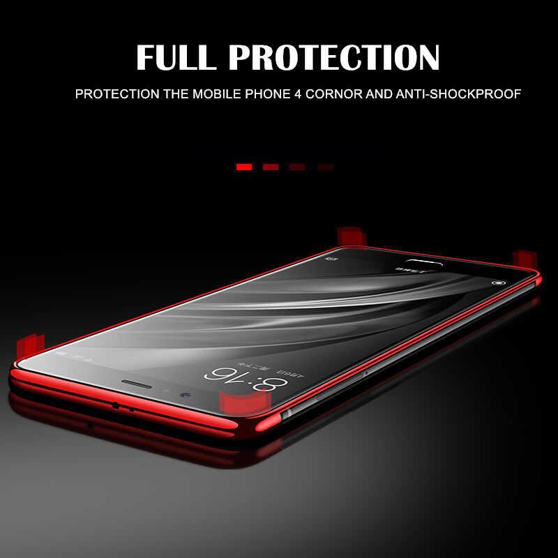 Global chapado transparente funda para Xiaomi Redmi Note 4X 5 Plus 6A 7A 7 K20 Nota 4 5A primer 6 7 8 Pro suave TPU funda protectora de teléfono