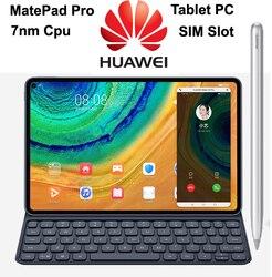 2020 лучший HUAWEI MatePad Pro 10,8 ''планшетный ПК с 7nm Kirin 990 процессором, мульти-экран, совместный WiFi, 8 Гб 256 ГБ, 4G SIM Слот