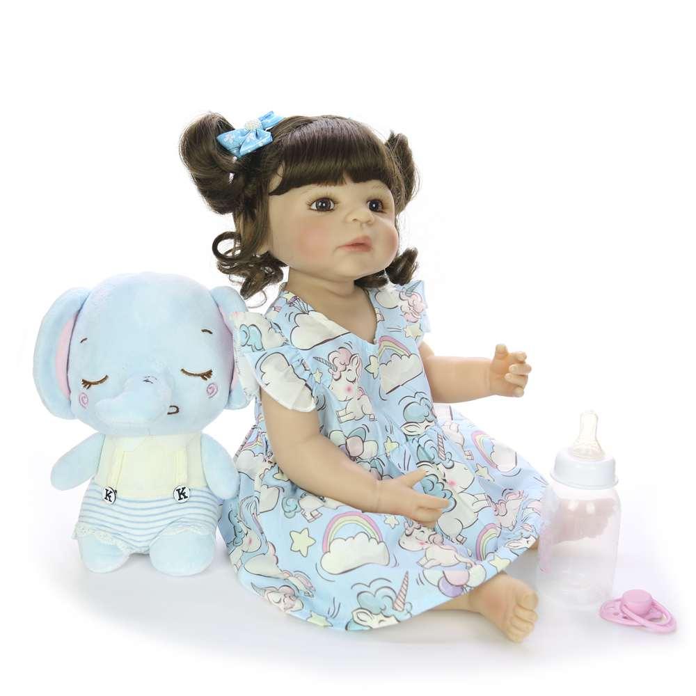 22 ''55 cm Silicone corps complet Reborn poupées mode réaliste Reborn Boneca vivant poupée pour enfants jour cadeaux enfants présents - 5