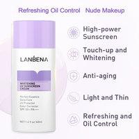 LANBENA Purple Whitening Uv Sunscreen Cream SPF50+ Face Sunblock Body Sun Protection Solar Lotion Moisturizing Daily Care 40ml 2